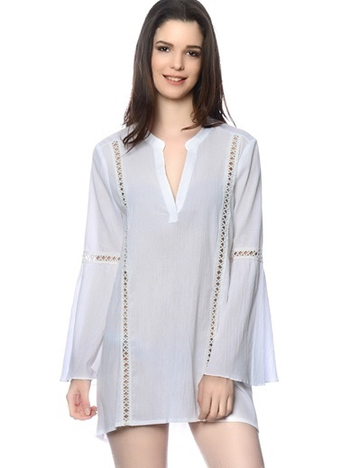 Moon River Elbise Beyaz